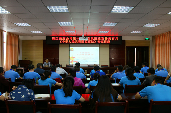 Qingjiang Gallery Company organized the 19th Party Party Integrity and Publicity Education Month
